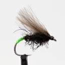 Černý CDC chrostík se zeleným tipem