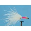 Bílo růžová - micro chenille